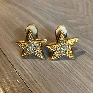 Star Vintage Clip Earrings